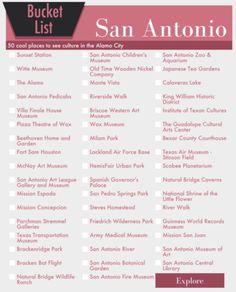 San Antonio Bucket List