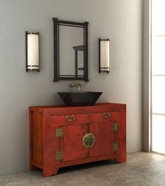 Adapting a beautiful antique for a modern purpose can provide a focal point around which to design a room. Many of our antiques have a rustic quality and ...