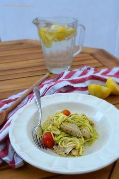 Ponto de Rebuçado Receitas: Zoodles com frango de limão e alho