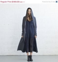 Halloween Sale French terry coat Grey Color. von naftul auf Etsy, $148.00