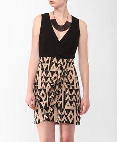 Geo Surplice Wrap Dress | FOREVER21 - 2000042447