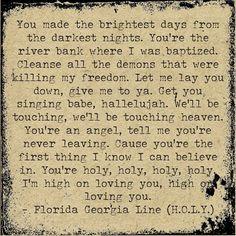 holy lyrics georgia florida line