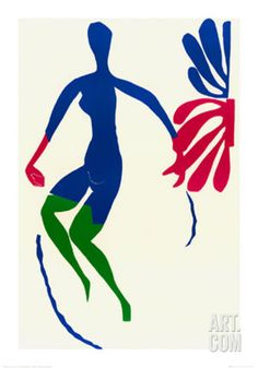Blue Nude with Green Stockings Print by Henri Matisse at Art.com
