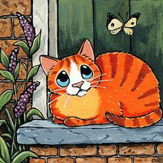 ideas cats cartoon drawing art for 2019 Cat Face Drawing, Drawing Art, Maurice Careme, Frida Art, Cat Tattoo Designs, Orange Cats, Animal Paintings, Art Paintings, Cat Art
