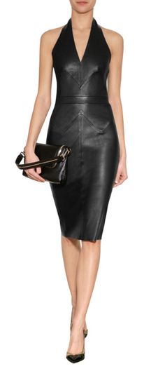 The ultimate in sleek seduction, Jitrois' exquisite leather halter dress is as soft as a second skin #Stylebop
