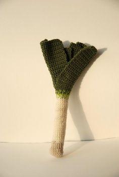 Leek Crochet Pattern Vegetable Crochet by VliegendeHollander