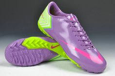 Nike Mercurial Vapor X TF Cleats - Medium Purple Hot Pink Fluorescent Green  New Soccer Shoes 2013 2a38617251