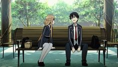 • anime gif sao Sword Art Online kirito Asuna piyox22 •