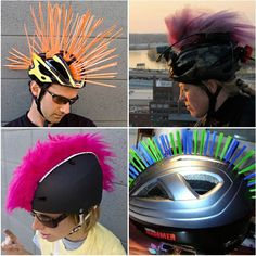 toddler bike helmet, fuzzy ribbon, hot glue