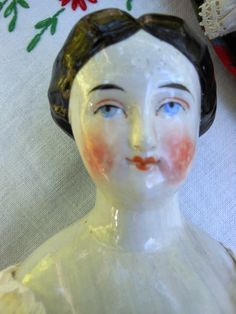 Antique Early German China Doll with RARE 1840's Bun Hair Style | eBay