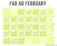 Something fun and easy to follow in February.