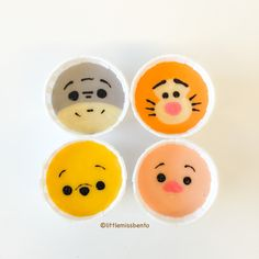 Winnie the Pooh Disney Tsum Tsum Deco Steam Cake Recipe mini muffins Steam Cake Recipe, Cartoon Cupcakes, Winnie The Pooh, Cute Bento Boxes, Kawaii Bento, Steamed Cake, Disney Tsum Tsum, Edible Food, Food Humor