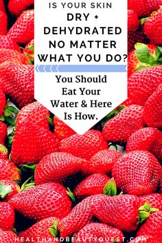 If you're struggling with dry and flaky skin, you don't need an expensive remedy. What you do need to start doing, is eating your water! Say whaaat? Most women forget to drink their 2L minimum daily, but there is a way you can keep super hydrated which will majorly help your skin! Add these delicious fruits to your diet and your skin will be moisturized, supple and you will regain comfort once again! Click to find out what you should put on your plate for moisturized skin
