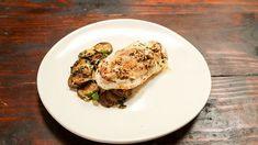 Chicken with Zucchini Trifolati and Mascarpone