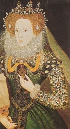 A portrait of Queen Elizabeth I, circa By an unknown artist. Elizabethan Club of Yale. Tudor History, British History, Renaissance Fashion, Renaissance Clothing, Renaissance Portraits, Elizabethan Era, Elizabethan Fashion, Elizabethan Costume, Isabel I