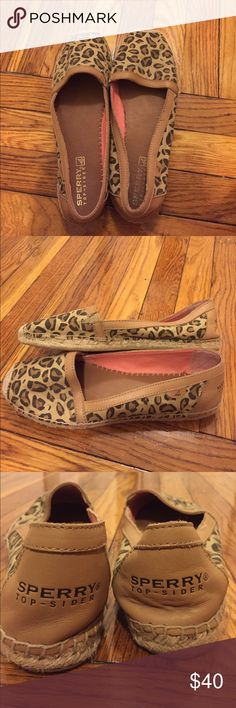 Leopard Sperrys Size 11. Super sassy and in very good condition! Sperry Top-Sider Shoes Espadrilles