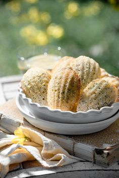 Lemon Poppyseed French Madeleines are a light sponge cake texture with a wonderful lemon zest flavor. Perfect bite size cake servings and easy to freeze. Lemon Recipes, Baking Recipes, Sweet Recipes, Delicious Cookie Recipes, Yummy Treats, Dessert Recipes, French Desserts, Just Desserts, French Recipes