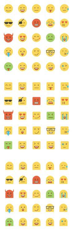 Set of Flat Design Emoji on Behance