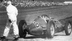 #8 Leslie Johnson - T.A.S.O. Mathieson - ERA E. The supercharger disintegrated after two laps and the car caught fire (Wiki).