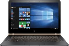 "HP - Spectre 13.3"" Laptop - Intel Core i7 - 8GB Memory - 256GB Solid State Drive - Dark ash silver, Luxe copper accent"