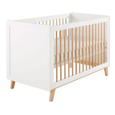 This furniture product is made of FSC certified wood. This label guarantees that the wood comes from a responsibly managed forest; Retro Bed, Petites Tables, Bed Base, Vintage Stil, Headboard And Footboard, Cot, Mattress, Furniture, Wood