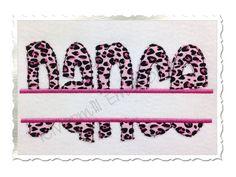 Split Dance Raggy Edge Applique Machine Embroidery Design - 4 Sizes