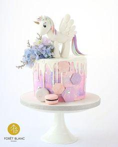 tortas de cumpleaños de nena unicornios
