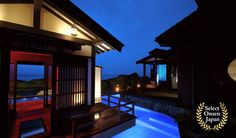Established in the year 1579, Yoshigoawara Onsen issituatedatthe tip of the Noto Peninsula. The only ryokan, or Japanese inn, in the area, Lamp no Yado, is distinctly located at the base ofa sheltered cliff face