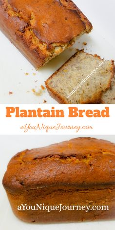 This Plantain Bread is soft, moist and delicious. A Plantain Bread is very similar to Banana Bread. The only difference it that you are using Plantain Plantain Bread, Plantain Fritters, Plantain Recipes, Baking Recipes, Dessert Recipes, Baking Ideas, Bread Recipes, Baked Plantains, Caribbean Recipes