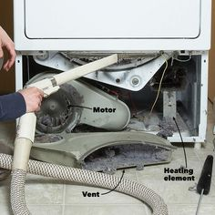 How to clean a dryer and prevent house fires. Clean the lint from inside your clothes dryer as well as dryer lint caught in the exhaust vent. Dryer Lint Cleaning, Dryer Lint Trap, Vent Cleaning, Deep Cleaning Tips, House Cleaning Tips, Spring Cleaning, Weekly Cleaning, Cleaning Painted Walls, Bathroom Cleaning Hacks