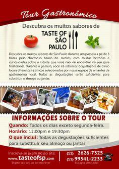 Cartaz A4 desenvolvido para Taste of São Paulo