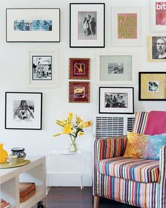 These are all how my walls look pretty much...it makes my small NYC apt look smaller but oh well. Still love the look, and have TONS of art!