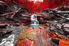 Blood Red by Mirko Fikentscher on Cool Pictures, Beautiful Pictures, Beautiful Things, What A Wonderful World, Natural Wonders, Nice View, Wonders Of The World, Fresh Water, Waterfall