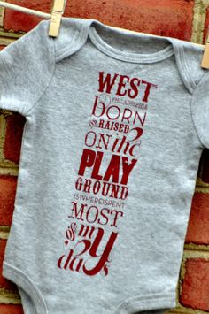 West Philly Baby One Piece by TwoPaperdollsShop on Etsy, $20.00