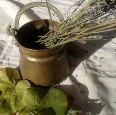 Antique Brass Bucket  Hammered Handle Rustic  by SophieLadyDeParis, $38.00