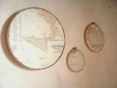 I love maps in the home - this is a great idea for framing them - could be a very personal gift.