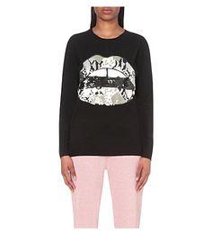 MARKUS LUPFER Natalie sequinned-lip wool jumper. #markuslupfer #cloth #knitwear