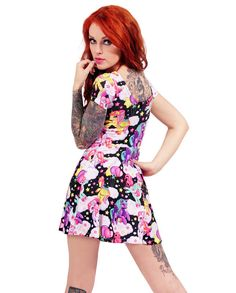 Liquor Brand Damen PEGASUS Kleid.Pin up,Oldschool,Tattoo,Custom Clothing Style