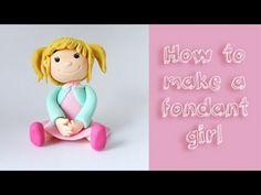 How to make a fondant girl tutorial / Jak zrobić dziewczynkę z masy cukrowej - YouTube