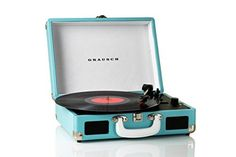 Grausch RPS100 Briefcase Style Three-Speed Portable Vinyl Turntable Record Player with Built-In Stereo Speakers (Blue), http://www.amazon.co.uk/dp/B01AI1N68I/ref=cm_sw_r_pi_awdl_x_oCPWxbZ5FX40H