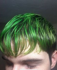 Green Hair Men, Awesome Hair, Colorful Hair, Cool Hair Color, Dyed Hair, Cool Hairstyles, Dreadlocks, Rainbow, Guys