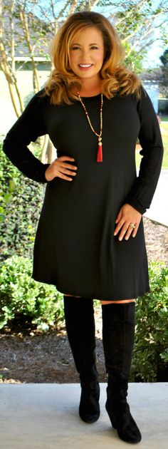 Perfectly Priscilla Boutique - Tried And True Dress  -   Black, $40.00 (http://www.perfectlypriscilla.com/tried-and-true-dress-black/)