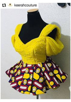 #african #blouse #style #lace School Latest African Fashion Dresses, African Dresses For Women, African Print Dresses, African Print Fashion, Africa Fashion, African Attire, Modern African Dresses, African American Fashion, Ankara Fashion