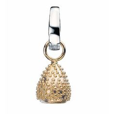 Virtue Gold Plated Sterling Silver Textured Teardrop Drop Charm £28
