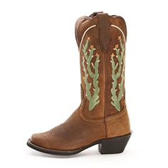 Justin Brown Cactus Cowgirl Boots