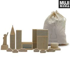 NYC skyline blocks, sold at Muji