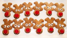 Reindeer biscuits (upside down gingerbread men)