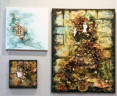 Prima mixed media canvases - Finnabair and Jamie Daugherty