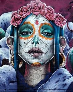 """The day of the dead""  Mexico, Italy, Spain celebrates soul day, in America we celebrate ""All Saints Day"" Nov 1st and 2nd, such a wonderful colorful celebrations♥"