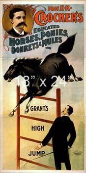 Crocker's Horses Ponies Donkeys Mules Circus Poster | eBay